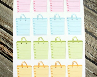 Shopping List Functional Planner Stickers - Shopping Bag Stickers - Grocery List Planner Stickers