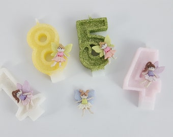 Fairy Glitter Number Candles