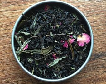 Delacour - Harry Potter Inspired Loose Leaf Tea Blend - Fleur Delacour - White Peony - Vanilla - Creme - Rose - Black Tea