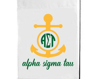 Alpha Sigma Tau, AST, Alpha Sigma Tau Flag,Alpha Sigma Tau Garden Flag, AST Flag, AST Garden Flag, big little, sorority flag, sorority gift