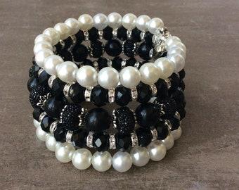 Wife gift memory Wire Bracelet