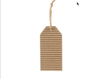 Corrugated gift tags , 9 each per sale,