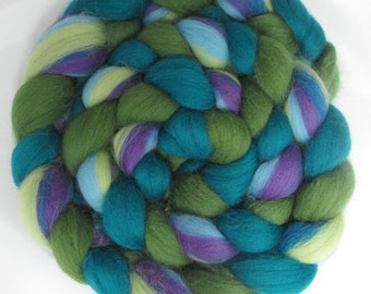 Braidients: JubJub Bird, 100% Merino Three-Color Combination Combed Top Braid for Spinning, Felting