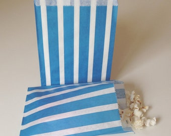Blue Stripe Candy Bags