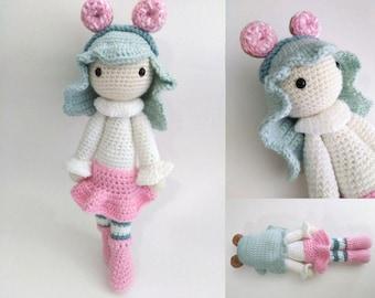 Amigurumi Chibi Doll : Crochet amigurumi patterns by pixyfellows on etsy