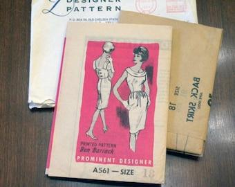 Designer Ben Barrack Dress Pattern 1960's Uncut