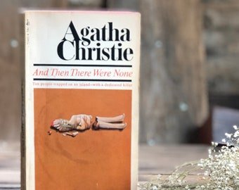 Vintage Agatha Christie And Then There Were None, paperback, classic mystery