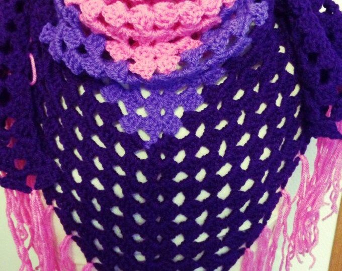 Scarf / scarf / shawl crocheted in acrylic