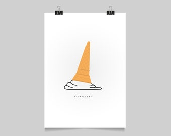 99 PROBLEMS - illustration print - kitchen print - humour poster