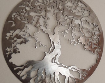 Tree Of Life, 40 INCHES in Diameter Metal Art, Wall Decor