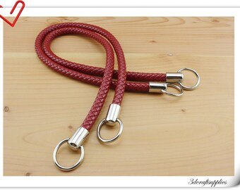 25 inch PU leather handles a pair Red AB50