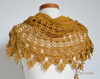 SIOBHAN, Crochet shawl pattern pdf