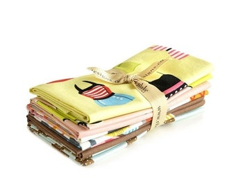 Summer Clearance Novelty Yellow Fat Quarter Fabric Bundle by Riley Blake