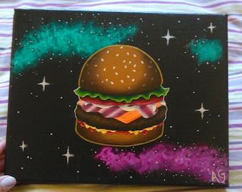"Space Hamburger, 8x10"""