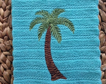 Palm Tree - TERRY - Kay Dee - Cotton 16x28 Kitchen Hand Towel