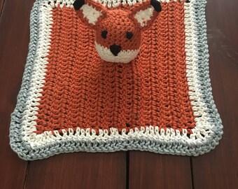 Fox Lovey Crochet, Baby Lovey Blanket, Security Blanket