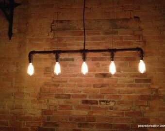 Industrial Lighting - Chandelier -  Steampunk Furniture - Edison Bulb