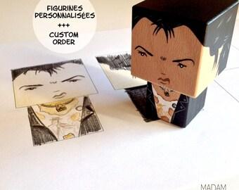 Figurine cubique personnalisée d'après photo