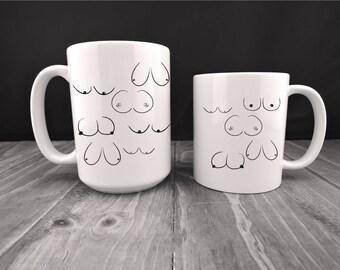 office mugs funny. Boob Collage Mug, Breasts Mug,Boobies Boobs Coffee Mug,Funny Office Mugs Funny
