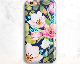 Floral iPhone 8 cas, cas, iPhone iPhone Floral 7 x cas, iPhone 6 Plus, pour iPhone SE, Floral iPhone 6 cas, fleurs pour iPhone 7, Floral SE