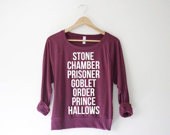 Books Women's Pullover by So Effing Cute USA - inspired by Harry Potter