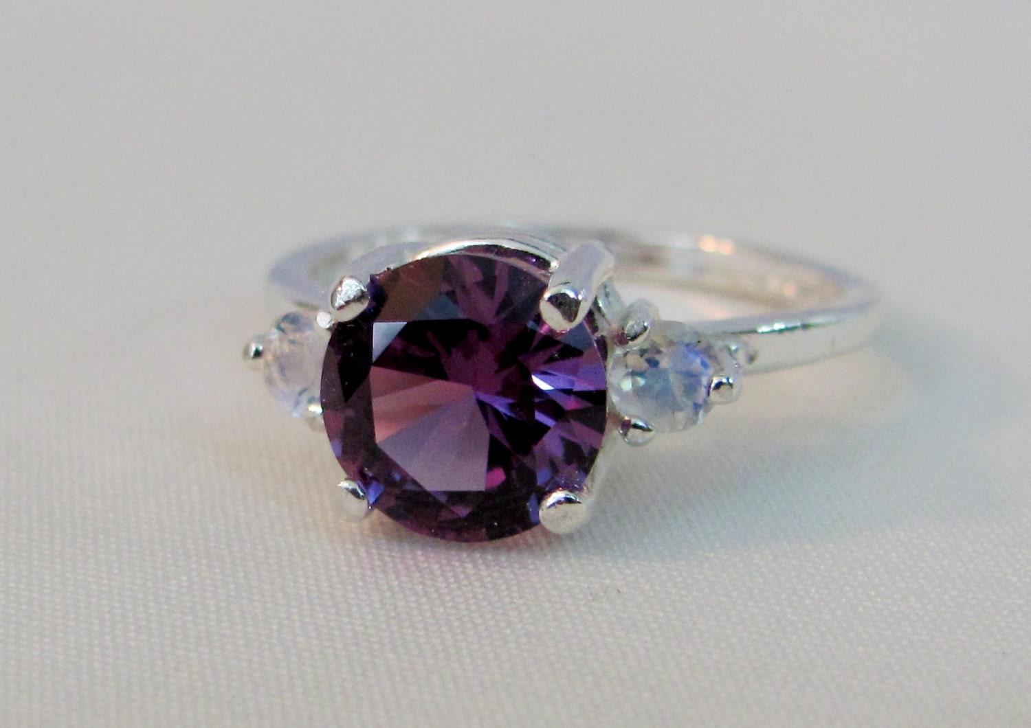 silver sterling birthstone jewelry ring wedding bridal rings oval june in alexandrite solid sets from item gemstone cut engagement leige