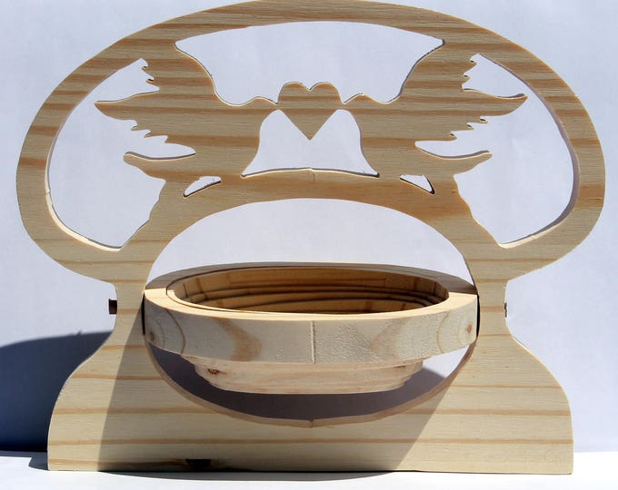 Jewelry, swallow wooden holder