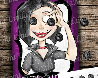 Instant download Coraline Birthday theme Party Game Pin the