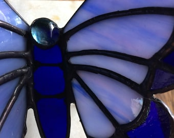 Handcrafted stained glass butterfly 3d