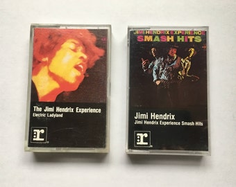 Jimi Hendrix - 2 vintage tape cassette - Electric Ladyland - Experience Smash hits - psychedelic rock music - 70s - Free shipping Canada USA