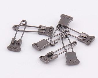 30pcs Gunmetal Safety Pins 24mm*4mm Kilt Pins Broochs Safety Pin Brooch Pin metal safety pins