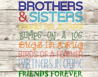 Brothers & Sisters SVG NEW