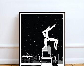 Every time I fell for you, Wall Art Prints, Modern Decor, Black and White Prints, Wall Decor, Wall Prints, Home Decor.