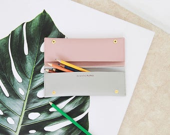Twin Pockets Pencil Case - 4 Colors   Multi Purpose Pencil Case   Make-up Bag   Pens Case   Cosmetic Bag   Pencil Bag   Stationery Organizer