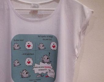 Women's Bipolar Bear T-shirt, the Roofs ®.