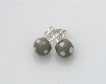 Grey Lampwork earrings