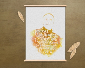 Pope Francis Lettering Quote Poster Downloadable and Printable