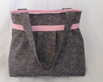 READY TO SHIP!!!Black and Pink Diaper Bag,