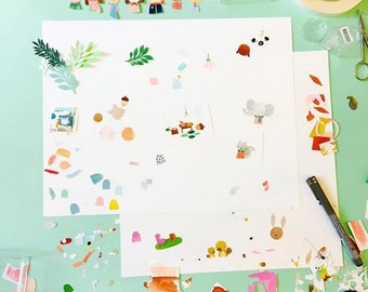 WORKSHOP Illustrating with paper - June 23 | learn how to illustrate, creative course, drawing class, paper cut workshop, Rotterdam