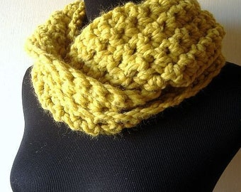 It's a Wrap Cowl Chunky Neckwarmer Scarf in Citrine Yellow