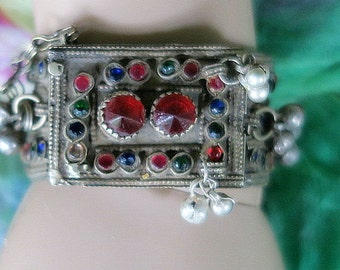 VINTAGE KUCHI BRACELET - Tribal Jewelry Pin Cuff for Small Wrist