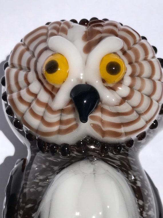Glass Pipe Grey Owl