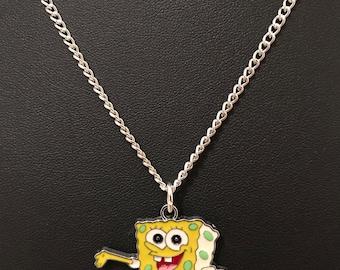 Silver Plated Spongebob Squarepants Necklace