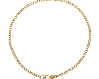 Gold Plated Cable Chain Bracelets, Pack of 12  (1856)