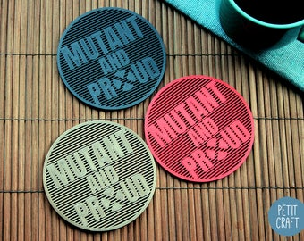 X-MEN: Mutant and Proud  - Colourful 3D Printed Coasters