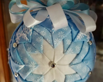Baby Blue and Snowflake Ornament
