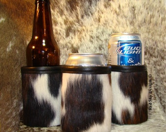 Leather Beer Can Holder Leather Can Coolie Cowhide Leather Can Insulator 3rd Anniversary Gift Leather Gift Father's Day Gift for Dad