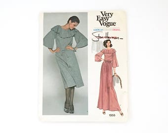 Very Easy Vogue Pattern 1355 American Designer Original Stan Herman - Uncut - Size 16 - Misses' Evening Dress