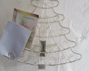 Tree Picture Card Holder Free standing Christmas Display