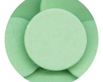 Green 16 oz Merckens Confectionery Coating - Chocolate Melts 16 ounce bag 1 lb pound bag Disks
